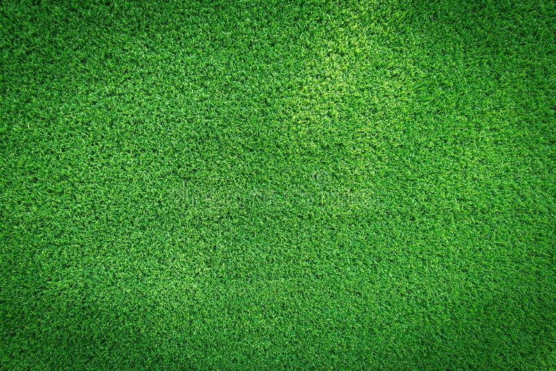 Grass field texture for golf course, soccer field or sports background concept design. Artificial grass royalty free stock images