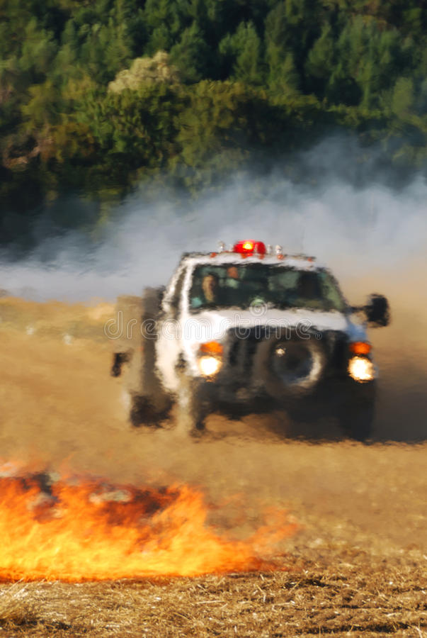 Download Grass Fire stock image. Image of wildland, truck, flame - 25246953