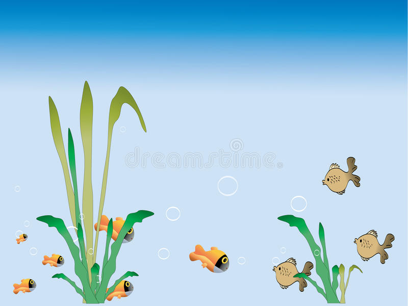 Download Grass and fish stock vector. Image of deep, isolated - 15913298