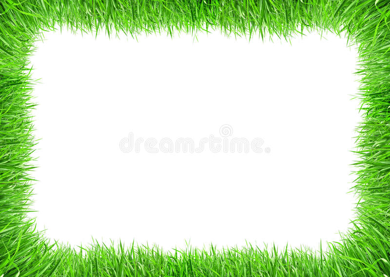Grass frame royalty free stock images