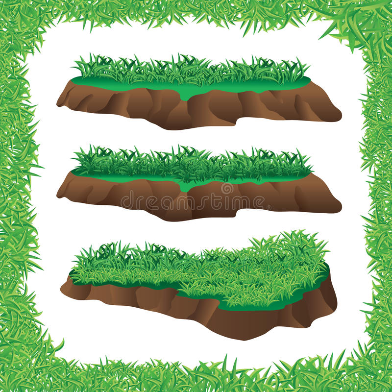 Grass frame stock illustration