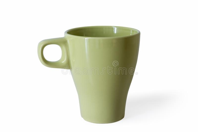 Grass green cup isolated. On white with clipping path stock photos