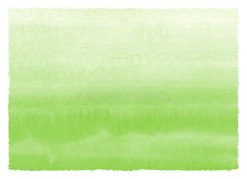 Grass green gradient watercolor painted texture royalty free illustration