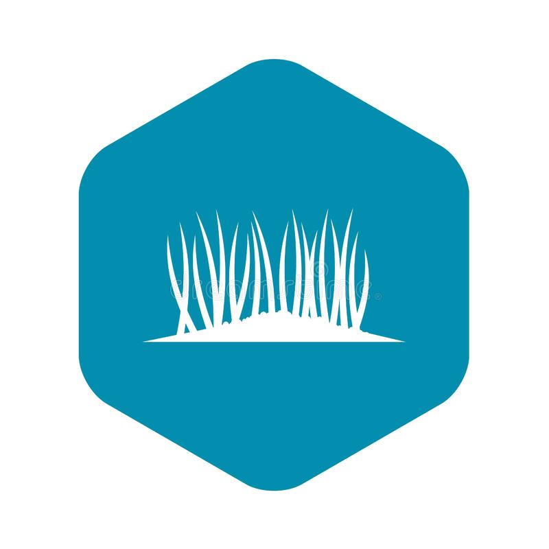 Grass on ground icon, simple style. Grass on ground icon in simple style isolated on white background. Plant symbol vector illustration vector illustration