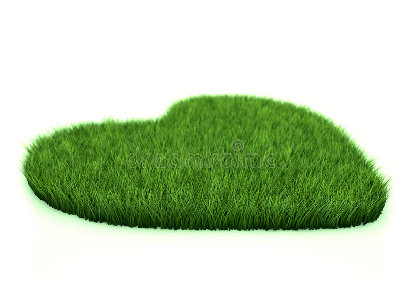 Grass heart stock images