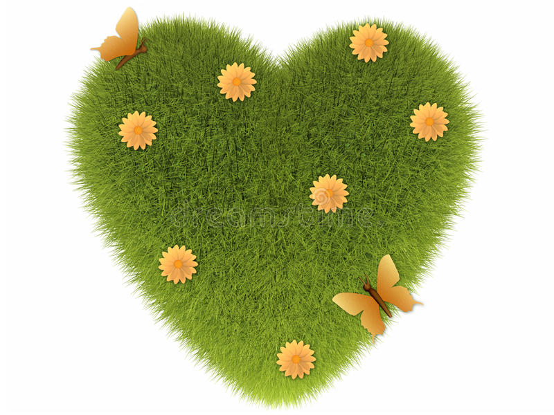 Download Grass heart stock illustration. Image of plant, fresh - 18196120