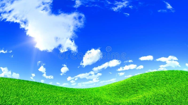 Download Grass Hill stock illustration. Image of blue, sunrise - 14239673