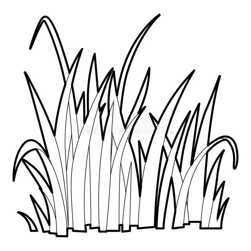 Grass Outline Vector Grass icon, outline st...