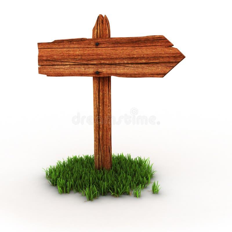 grass kierunkowskaz drewnianego ilustracji