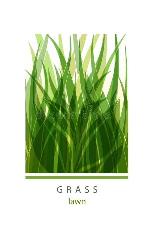 Grass Label abstract design. Green icon. Beautiful Logo Garden C stock illustration