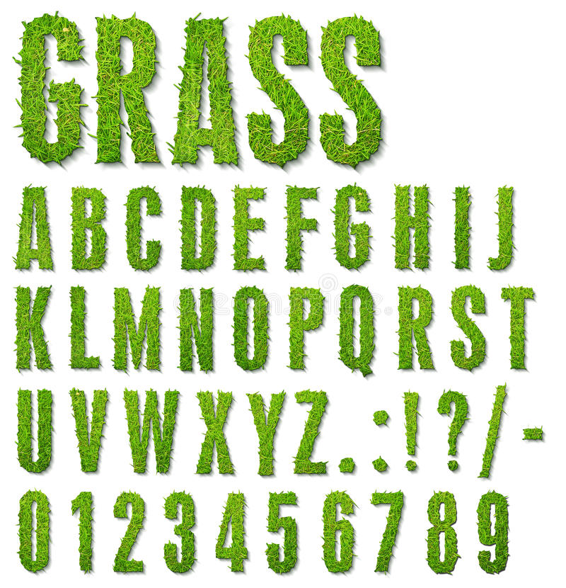 Download Grass letters stock illustration. Image of number, white - 20290465