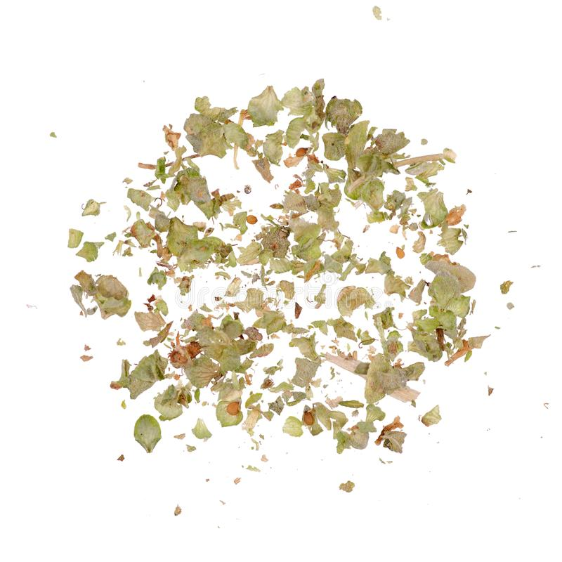 Grass marjoram spice. On white background isolation royalty free stock images