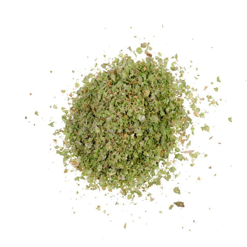 Grass marjoram spice. On white background isolation stock photos