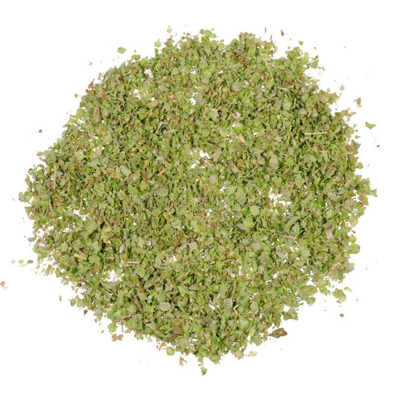 Grass marjoram spice. On white background isolation stock photo
