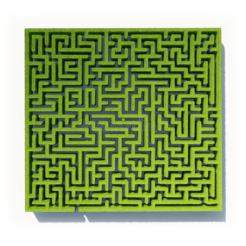 Download Grass maze stock illustration. Illustration of decoration - 27237990