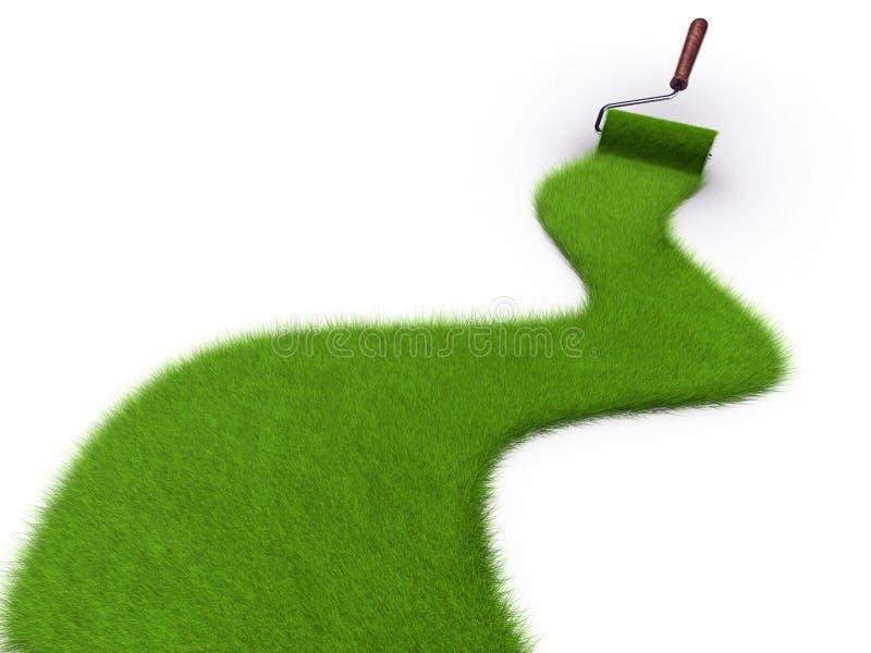 Grass Paint Stock Photo