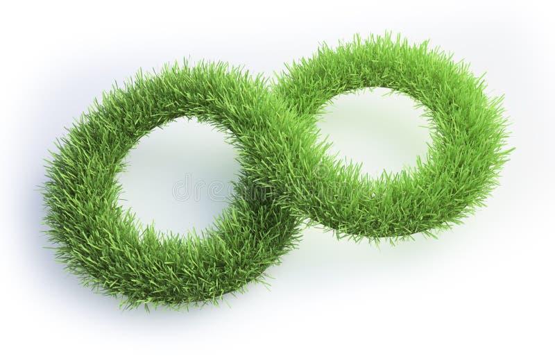 Grass Patch Shaped Like An Infinity Symbol Stock Illustration