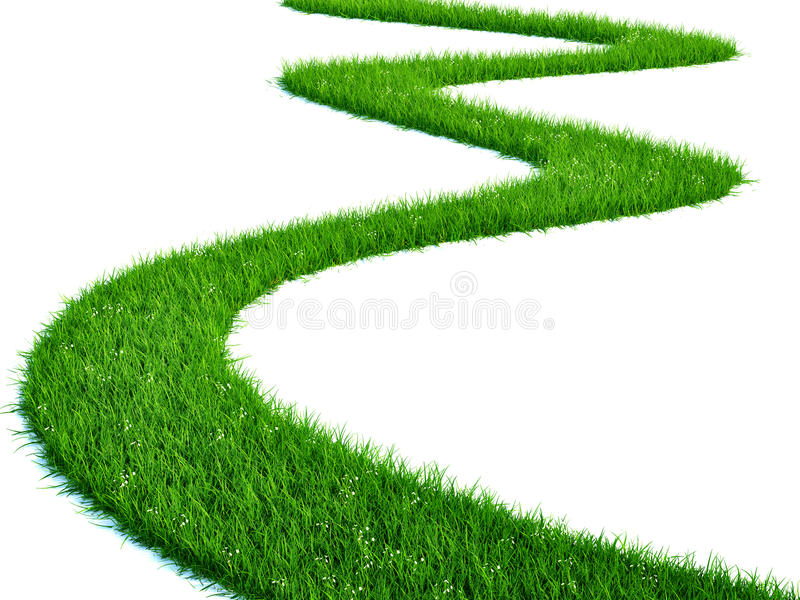 Grass path stock illustration