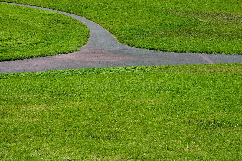 Download Grass Path #3 stock image. Image of roadway, field, park - 449895