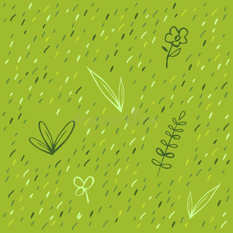 Download Grass pattern stock vector. Image of design, decorative - 10789045