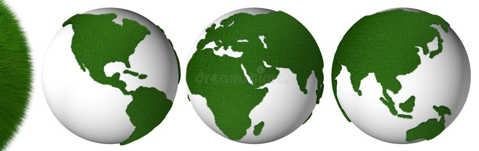 Grass planet stock images