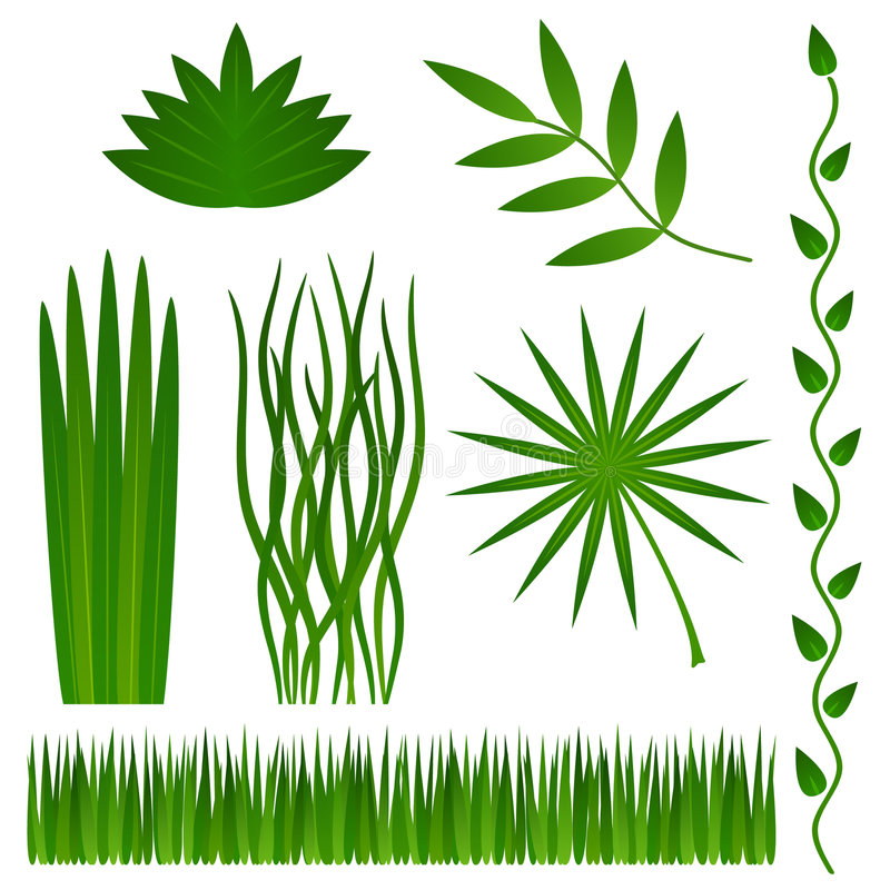 Download Grass and plants stock vector. Image of rendering, illustration - 8700853