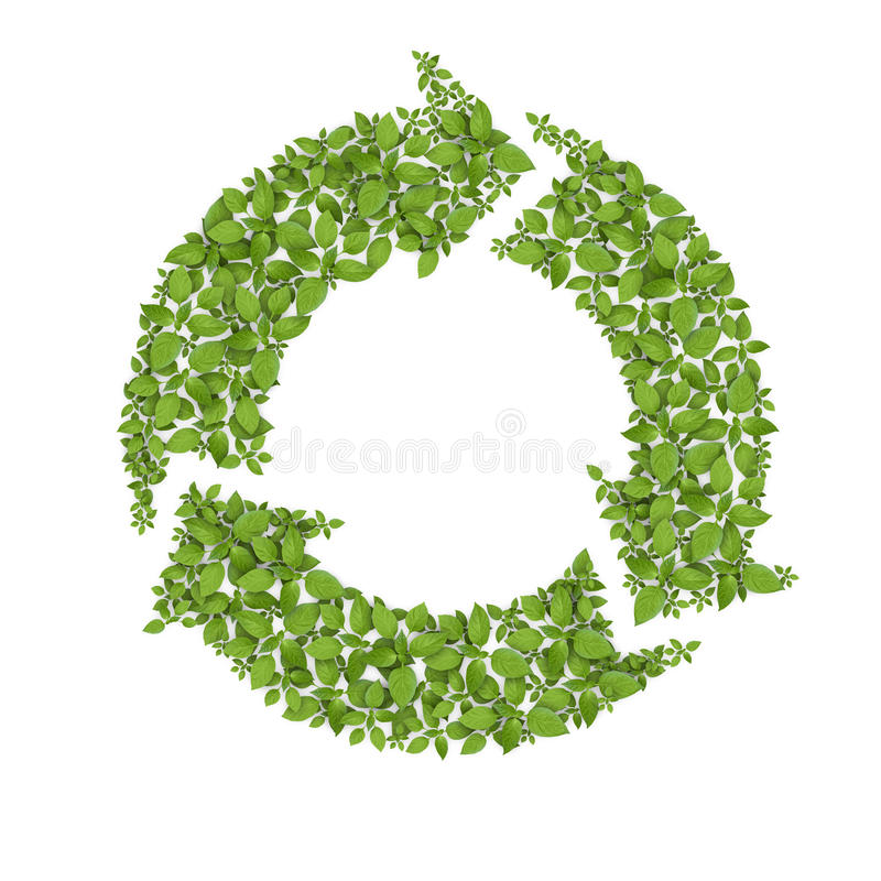 Download Grass Recycle Symbol stock illustration. Image of isolated - 21092944