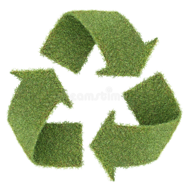 Download Grass Recycle Symbol Royalty Free Stock Photos - Image: 8403908