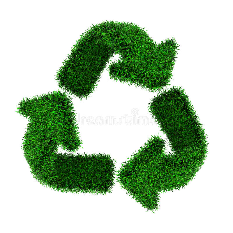 Download Grass recycling symbol stock illustration. Image of recycling - 24541335