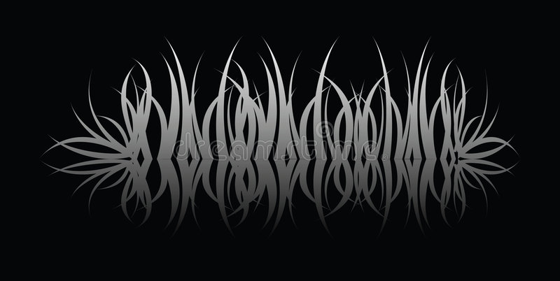Grass reflect royalty free illustration