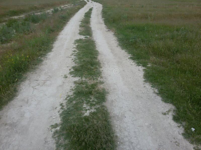 Grass road stock photos