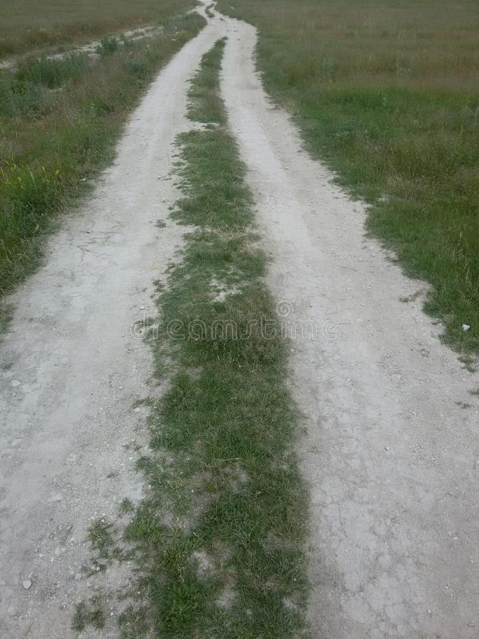 Grass road stock images