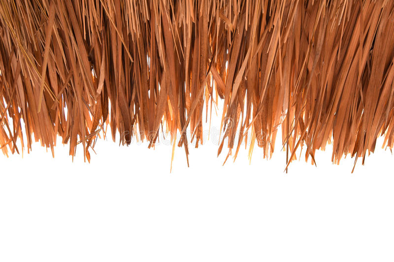 Grass roofs ,Thatched,on white background cutout royalty free stock photography