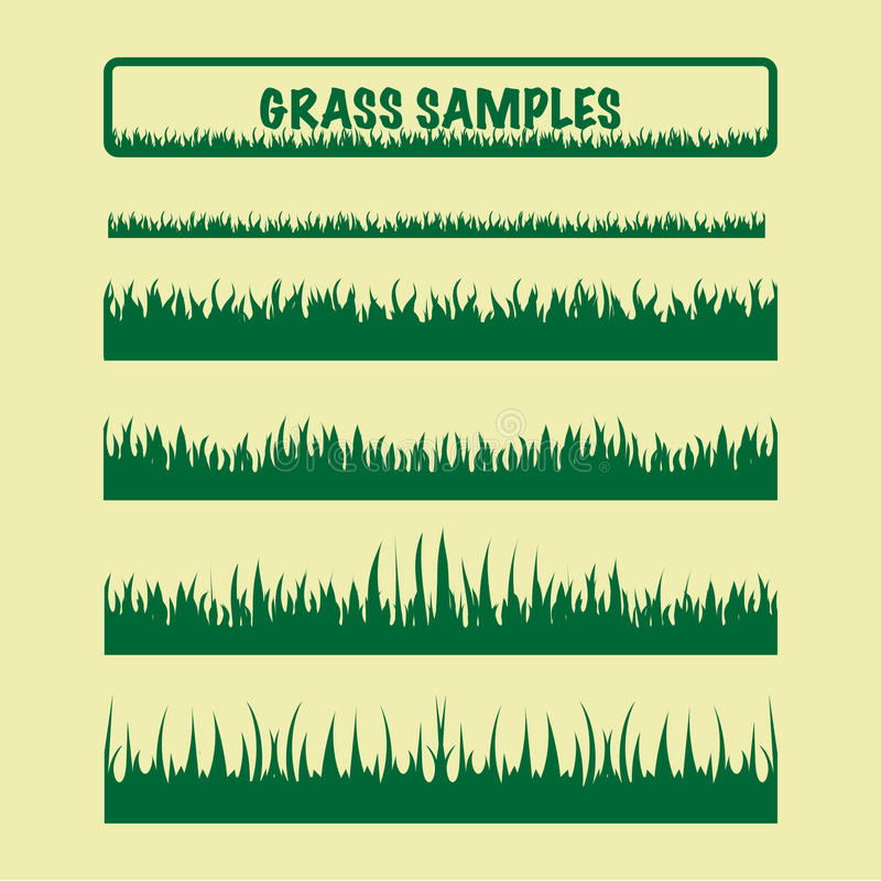 Grass samples, different stock images