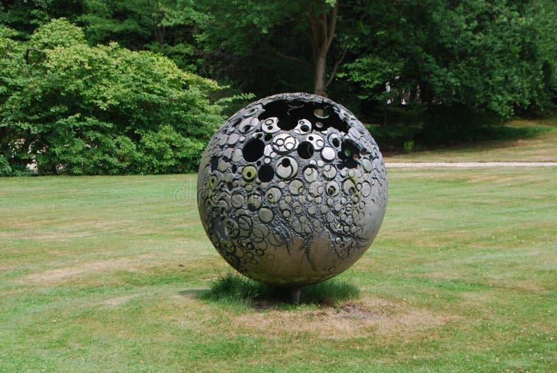 Grass, Sculpture, Garden, Sphere Free Public Domain Cc0 Image