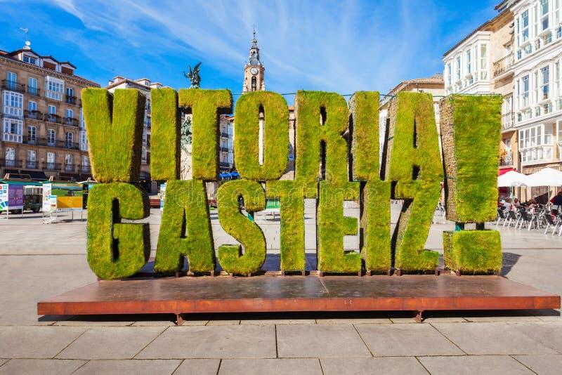 Grass sculpture in Vitoria-Gasteiz, Spain. VITORIA-GASTEIZ, SPAIN - SEPTEMBER 28, 2017: Grass sculpture at the Virgen Blanca Square in Vitoria Gasteiz city stock photos