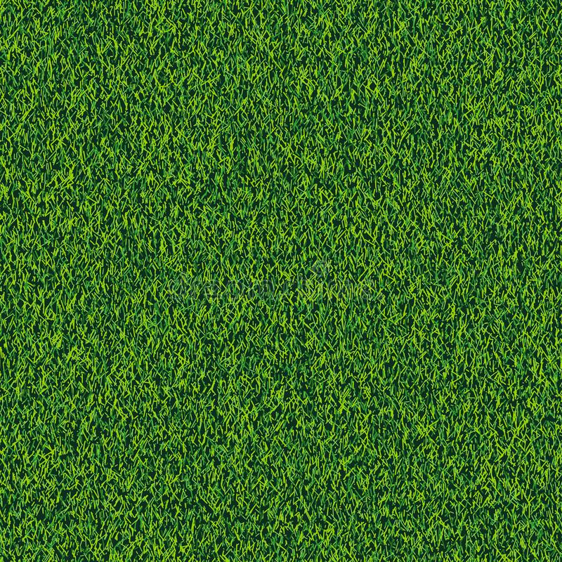 Grass seamless realistic texture. Green lawn, field or meadow vector background. Summer or spring nature illustration.  vector illustration