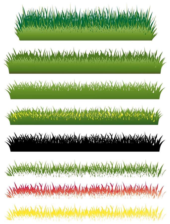 Download Grass set stock vector. Illustration of enviroment, decoration - 15785285