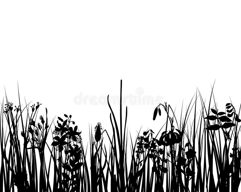 Download Grass silhouette stock vector. Illustration of fields - 9411440