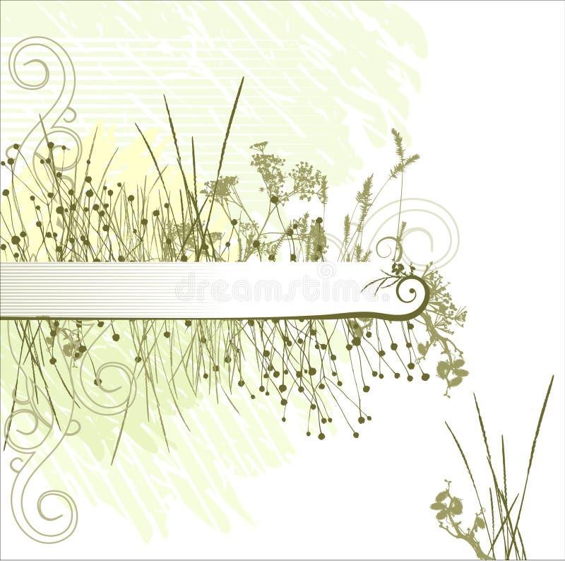 Grass silhouette frame vector illustration