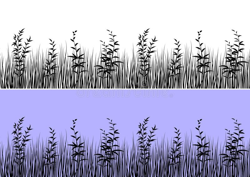 Grass Silhouette, Seamless royalty free illustration