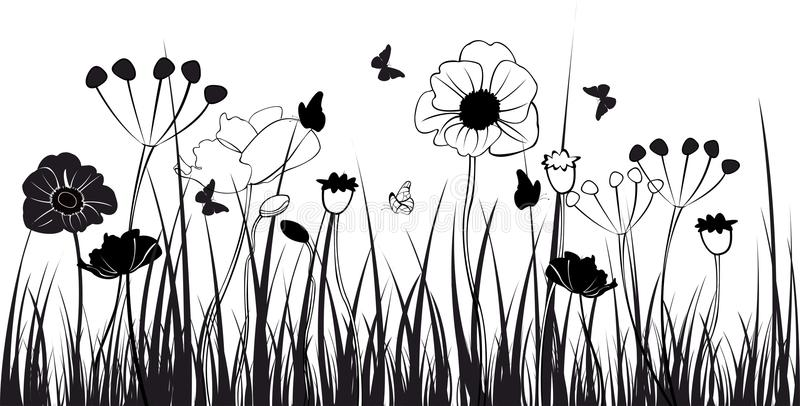 Download Grass Silhouettes Stock Photo - Image: 22730220