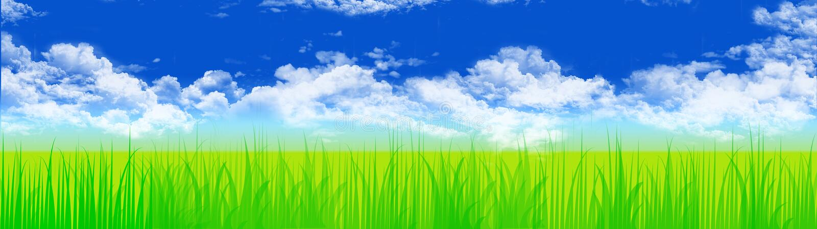 Download Grass and sky stock illustration. Illustration of header - 5026312