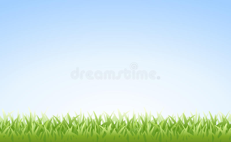 Grass and Sky (Seamless) stock illustration
