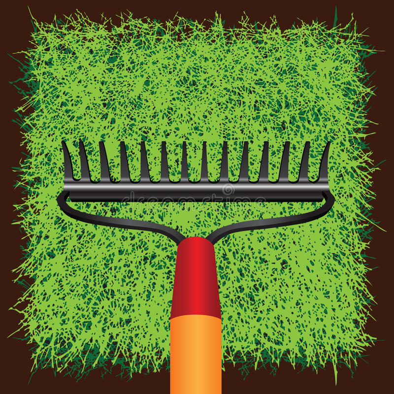 Download Grass sod and Garden rakes stock vector. Image of flora - 30336284