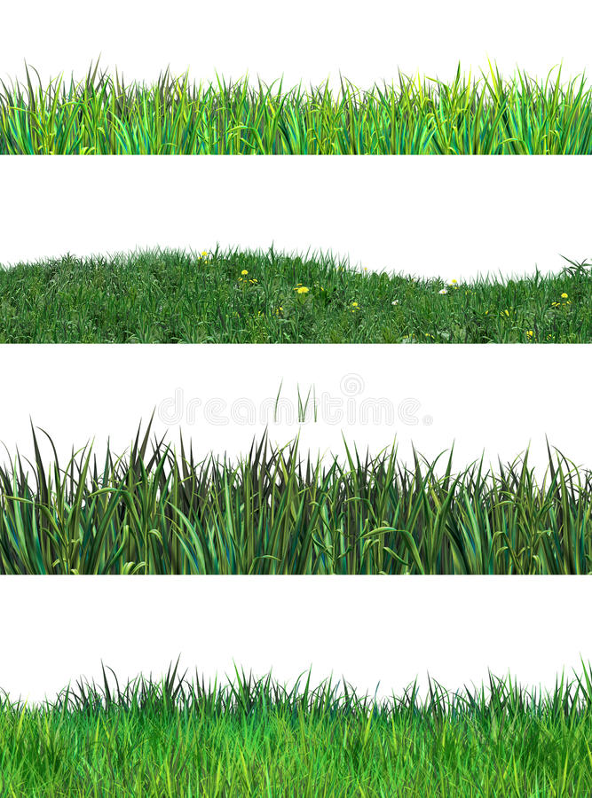Grass Spring Set Clip Art Environment Stock Illustration ...