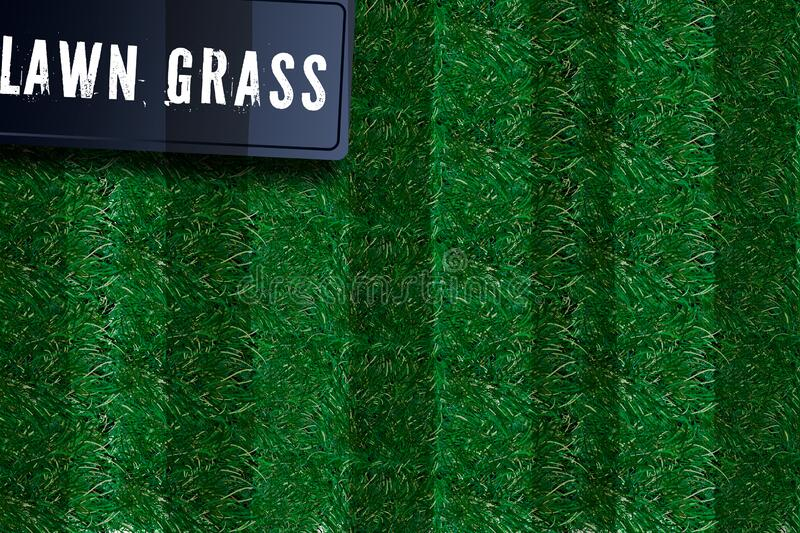 Grass square 3D. Beautiful green grassy field, isolated on white transparent background. Lawn abstract nature texture. Symbol. Grass square 3D. Beautiful green stock illustration