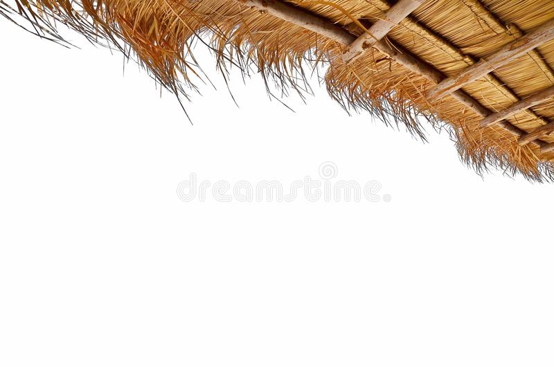 Grass or Thatch roofs on white Background. Cutout with clipping path royalty free stock photography