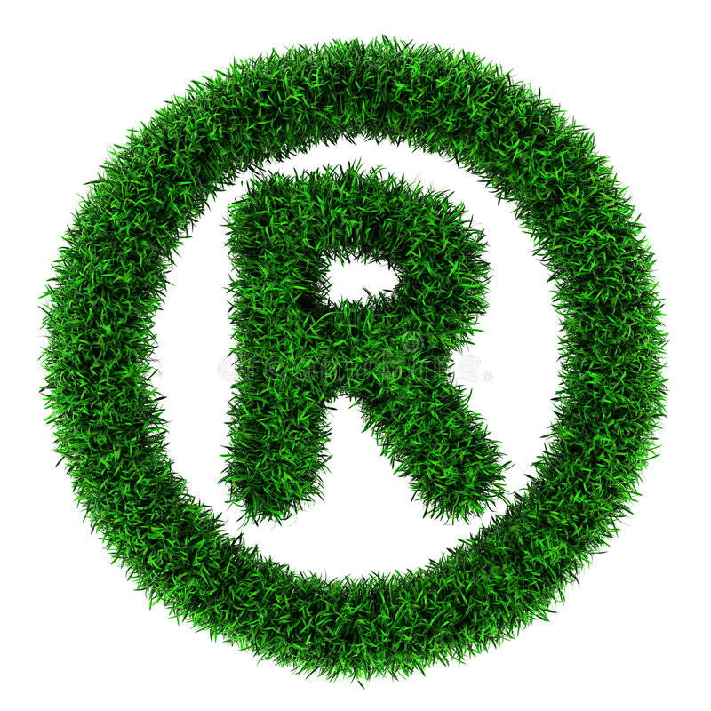 Download Grass trademark symbol stock illustration. Image of sign - 25033088