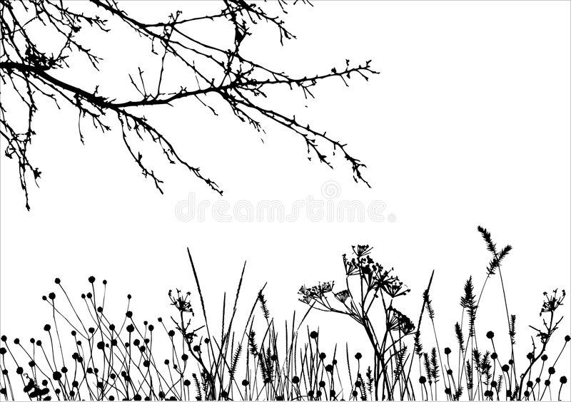Download Grass & Tree / Vector Silhouette Stock Vector - Image: 6257236